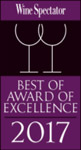 Best of Award of Excellence Wine Spectator 2017