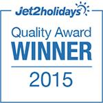 Jet2holidays Quality Award WINNER 2015