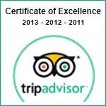 Tripadvisor Certificate of Excellence 2011-13
